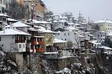 Town of Veliko Tarnovo in the Winter