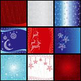 set of elegance christmas snowflake background pattern