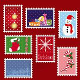 sets of winter Christmas stamp postage