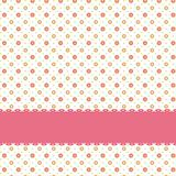 Pink flower polka dot seamless pattern