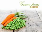 Carrots and green peas