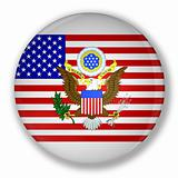 Badge with flag of United States