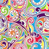 Retro Funky Scroll Pattern