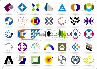 abstract geometric elements used to design,More similar articles, please visit my portfolio