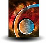 Vector abstract disco banners. illustration line and circle
