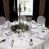 Elegant and festive decorated table