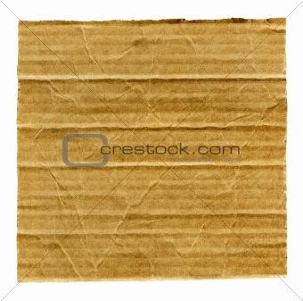 Cardboard isolated