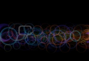 Abstract vector background - color circles and lines