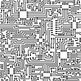 Seamless hi-tech electronic vector pattern