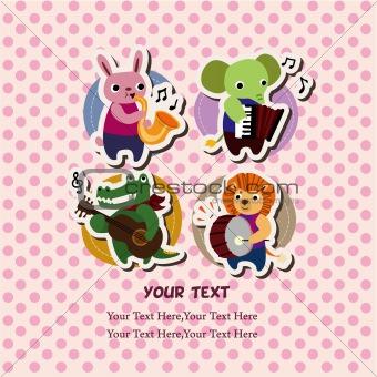 animal music card