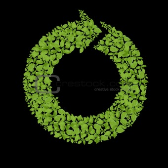 Green plant recycle icon