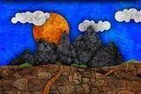 mountain landscape, illustration