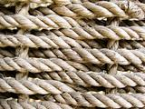 coarse braided rope background