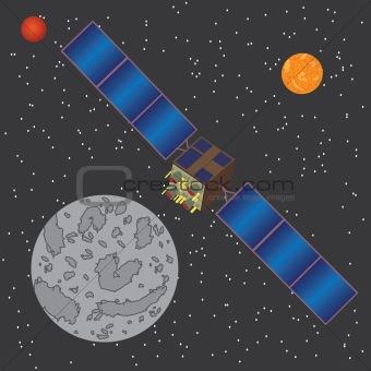 Satellite in space.