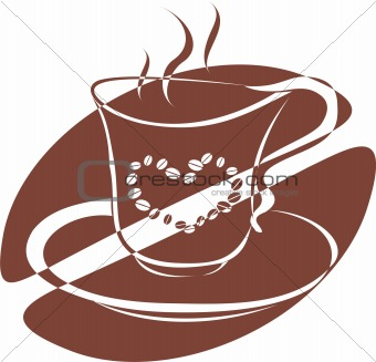 A cup of coffee with heart picture