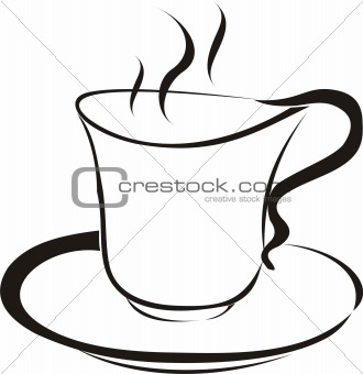 A cup with some hot drink