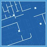 House plan, blueprint vector