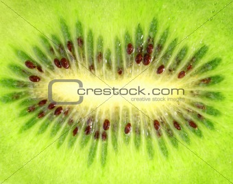 Background of the ripe kiwi slice