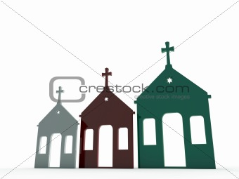 church in various color