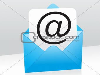 abstract blue mail icon