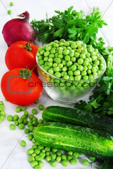 Appetizing fresh vegetables