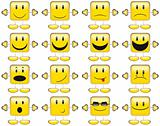 Collection of Yellow Smileys