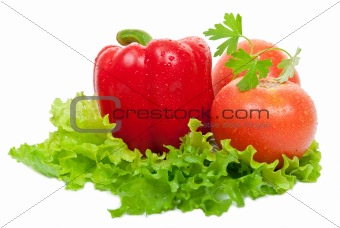 Tomatoes and red peppers