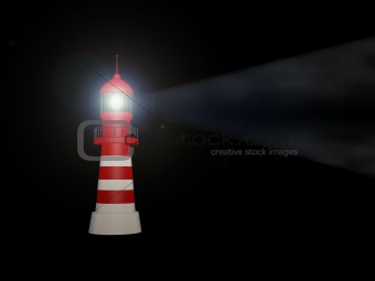 lighthouse on white background