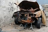 Rusty Wrecked Car