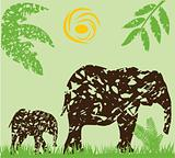 grunge elephants