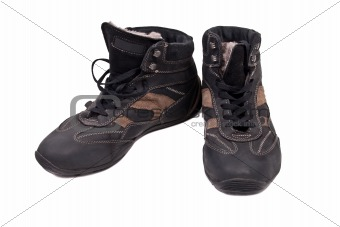 Pair of man autumn boots