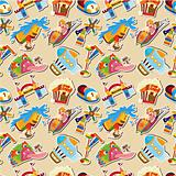 cartoon playground seamless pattern