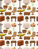 cartoon Furniture seamless pattern