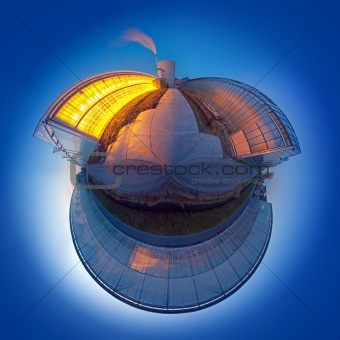 Carbon dioxide emission sphere