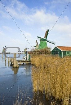 Four windmills in the Zaanse Schans