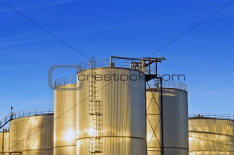 Stainless steel industrial Silos