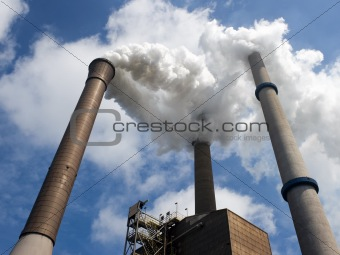 Three Smoke Stacks in perspective