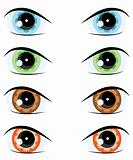 cartoon eye. Vector set