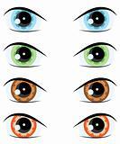 cartoon eye. Vector set