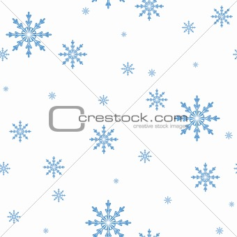 seamless vector pattern of the Snowflakes