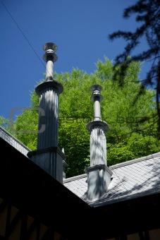 ancient chimneys at Campo del Moro