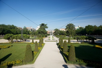 avenue park in Madrid