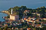 Veli losinj panoramic aerial view