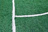 Fake grass soccer field