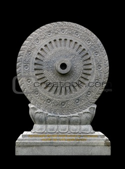 Carved stone Dhammajak