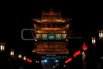 Ancient Chinese Gateway Pingyao Night