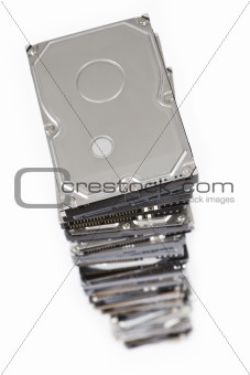 stack of hard drives