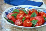 salad of fresh tomatoes with basil