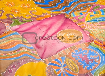 abstract pattern on silk