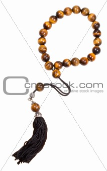 prayer bead isolated on white